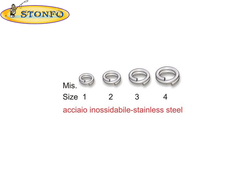 Stonfo Split Rings (Size 3: &#8960 int mm 6,5. Strength kg 50. Weight gr 0,65, 10pcs)