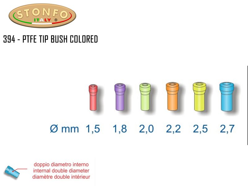 Stonfo 394 - PTFE Tip Bush Colored (Size:1.5mm , Pack: 2pcs)
