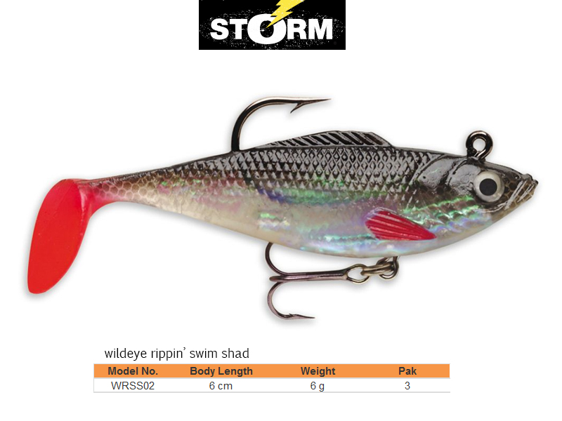 Storm Wildeye Rippin´ Swim Shad (Length: 6cm, Weight: 6g, Pack: 3, Colour: RO)