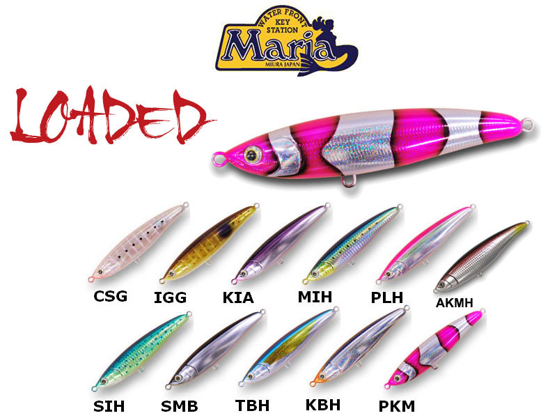 Maria Loaded Lures (Length: 140cm, Weight: 43g, Colour: KBH)