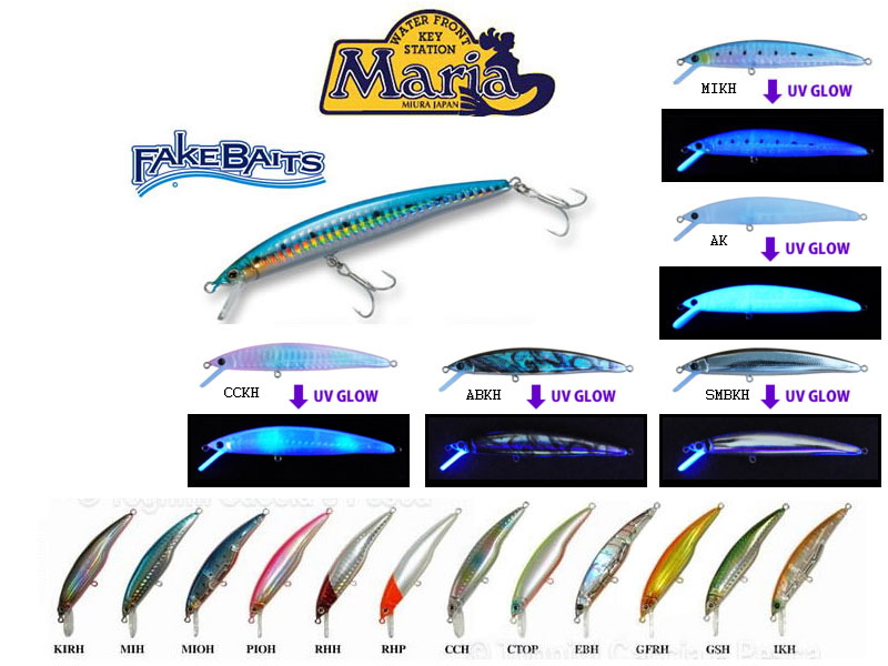 Maria Fake Baits Sinking lures (Length: 70cm, Weight: 8.5g, Depth:90-170cm, Colour: CCKH)