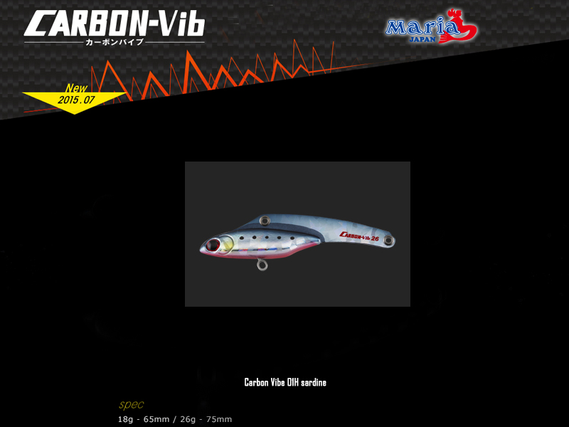 Maria Carbon Vibe Lures (Size: 65mm, Weight: 18g, Color: 01H sardine)