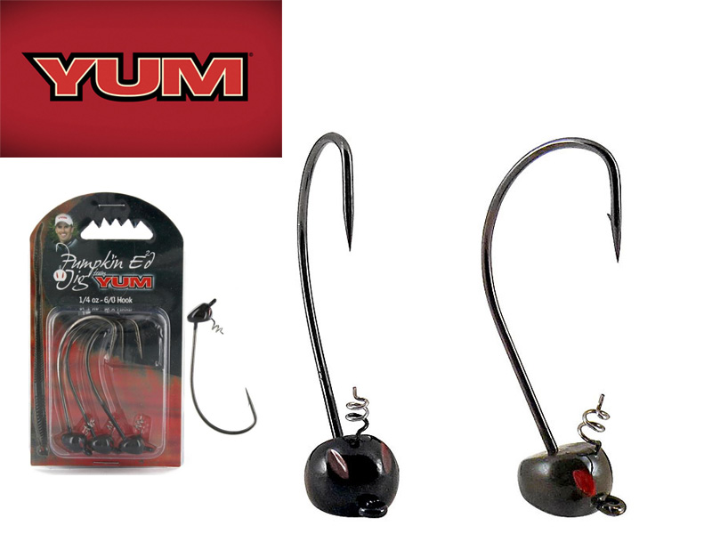 Yum Pumpkin ED Head Jig (Hook:3/0, Weight:1/4oz)