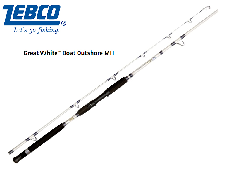 Zebco Great White� Boat Outshore MH(Length: 2.20m, Sections: 2, C.W.: 100 - 350 g, Tr.-Length: 1,15 m, Weight: 450g)