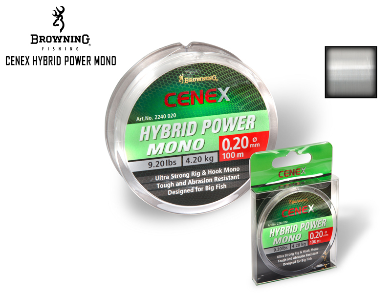 Browning Cenex Hybrid Power Mono (Size:0.12mm, B.S: 1.70kg, Length: 100mt)