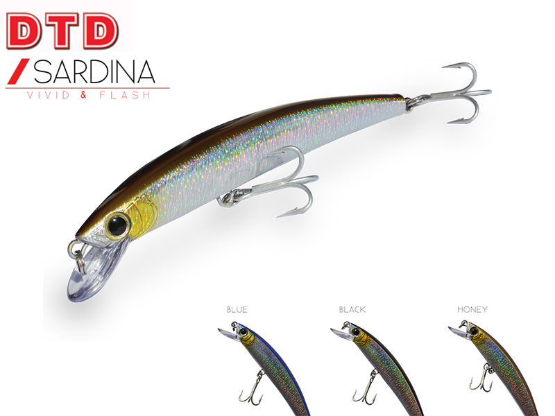 DTD Sardina (Length: 110mm, Weight: 13gr, Color: Black)