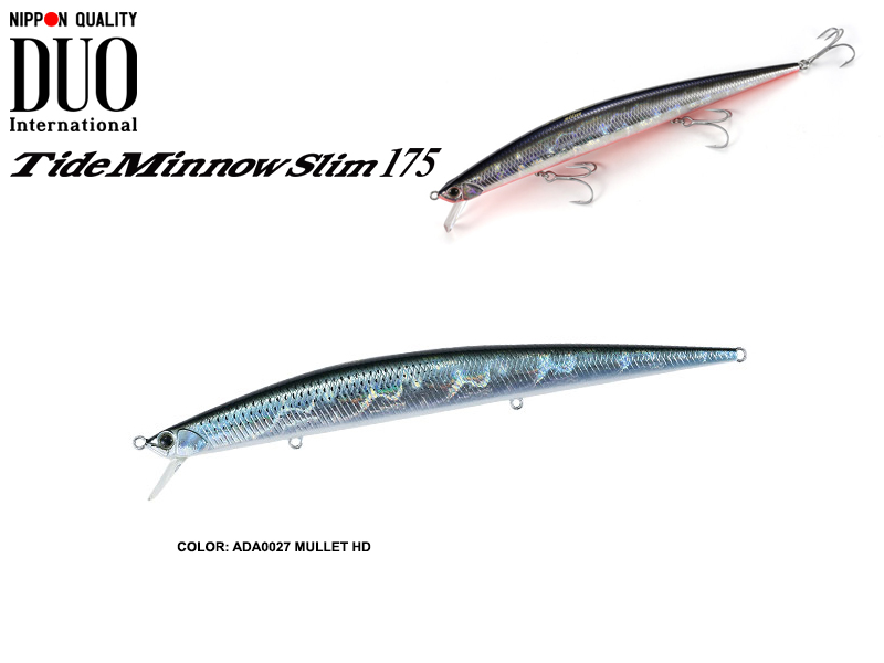 DUO Tide-Minnow Slim 175 Lures (Length: 175mm, Weight: 27g, Color: ADA0027 Mullet HD)