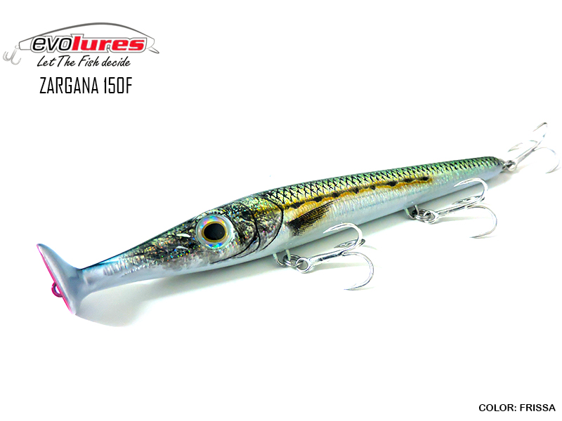 Evo Lures Zargana 150F (Length: 150mm, Weight: 21gr, Color: Frissa)