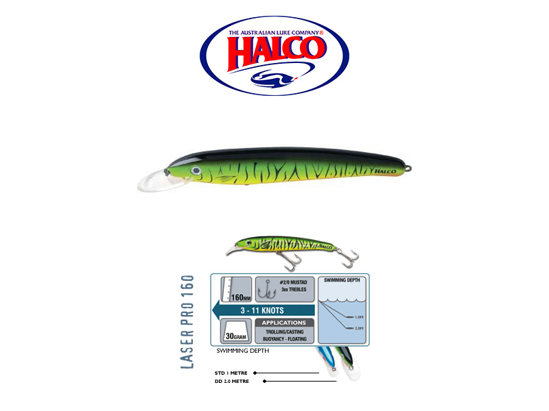 Halco Laser Pro 160 DD (160mm, 30gr, Color: H52)
