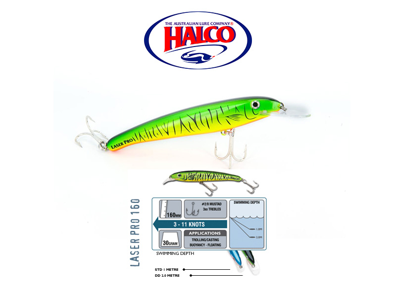 Halco Laser Pro 160 XDD (160mm, 30gr, Color: H52)