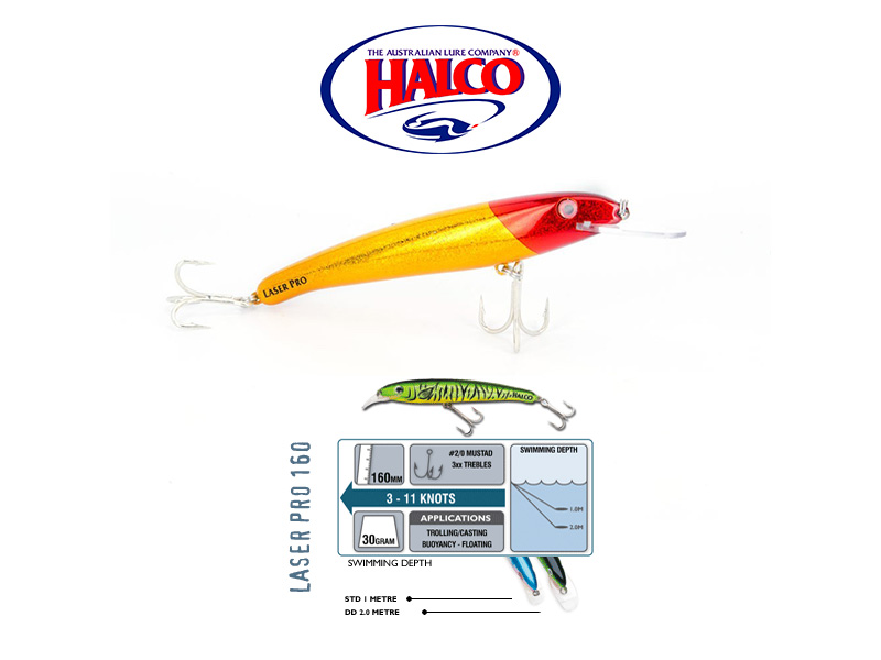 Halco Laser Pro 160 XDD (160mm, 30gr, Color: H78)