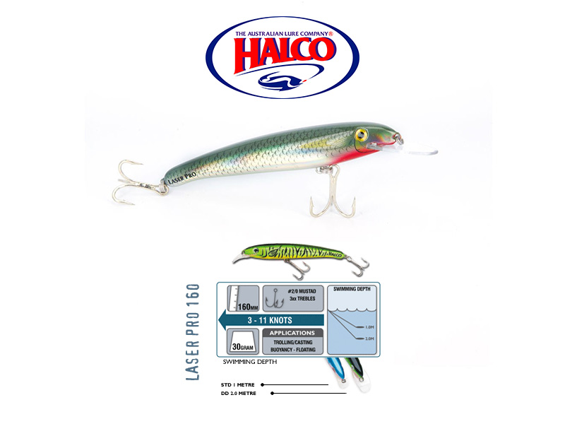 Halco Laser Pro 160 XDD (160mm, 30gr, Color: R25)