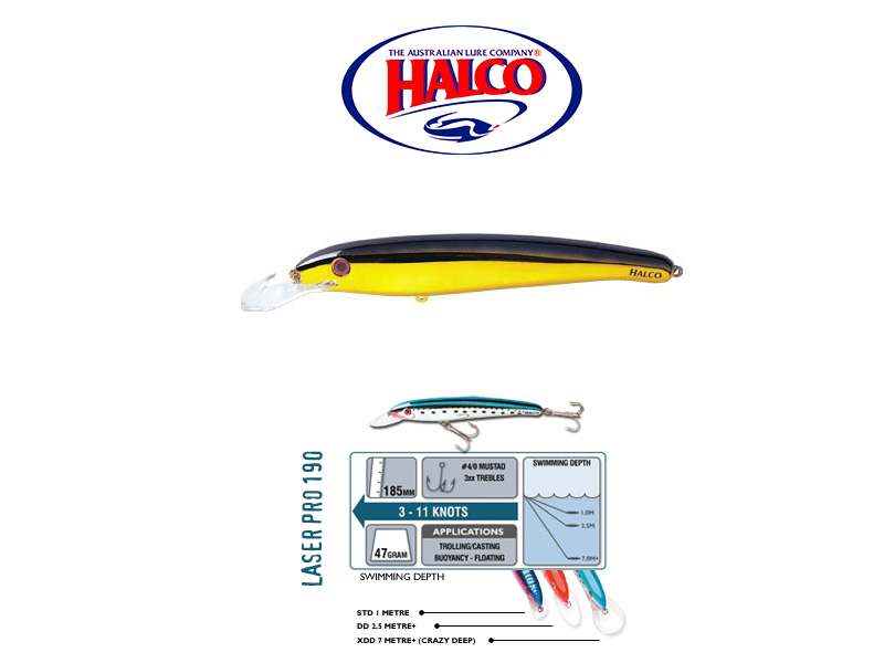 Halco Laser Pro 190 XDD (185mm, 47gr, Color: H51)