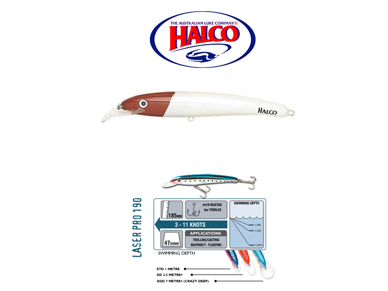 Halco Laser Pro 190 XDD (185mm, 47gr, Color: H53)