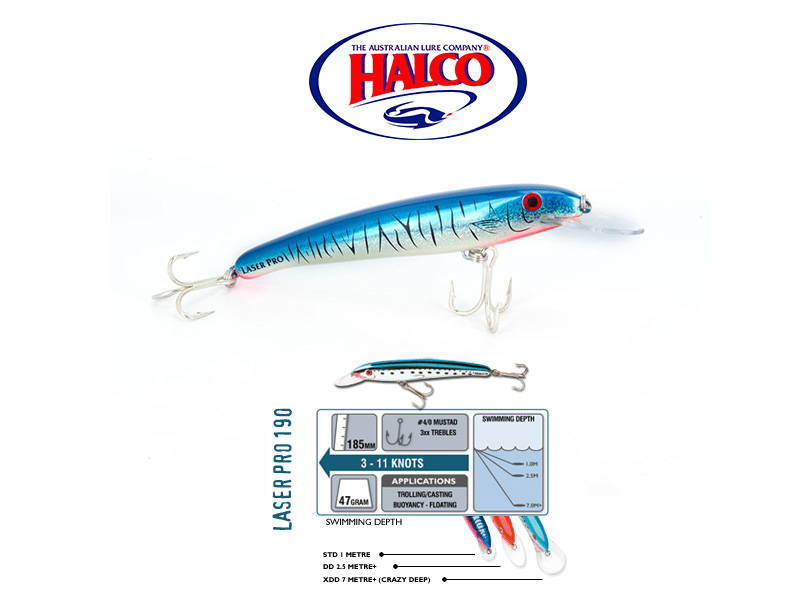 Halco Laser Pro 190 XDD (185mm, 47gr, Color: H57)