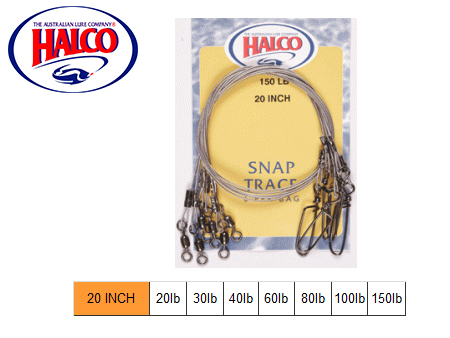 "Halco Snap Traces (20"", 100LB, 6pcs)"