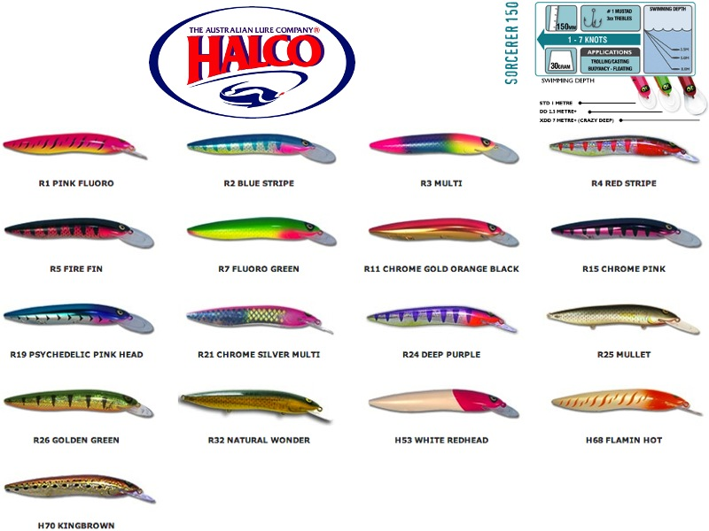 Halco Sorcerer 150DD (150mm, 30g, Color: #R19)
