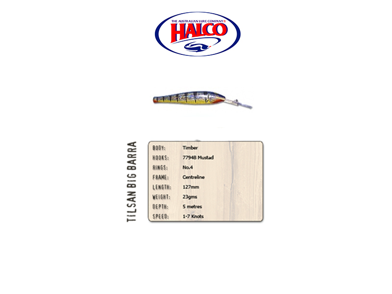 Halco Tilsan Big Barra (127mm, 23gr, Color: T106)