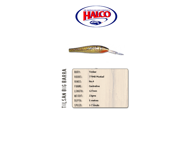 Halco Tilsan Big Barra (127mm, 23gr, Color: T110)