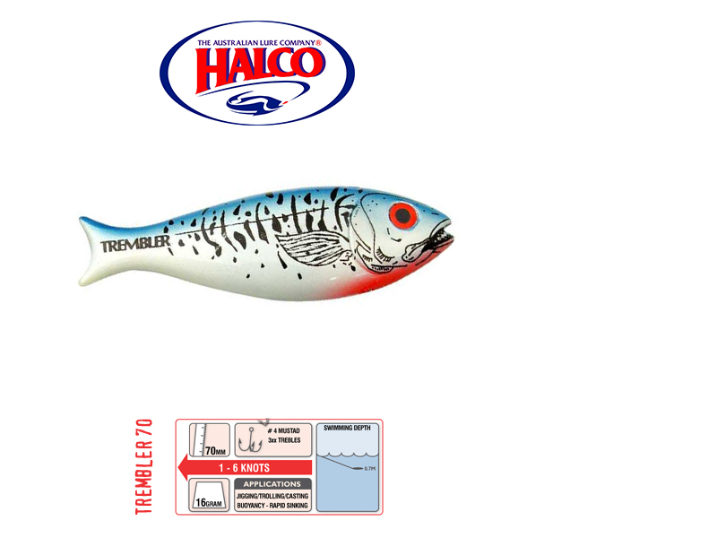 Halco Trembler 70 (70mm, 16gr, Color: H57)