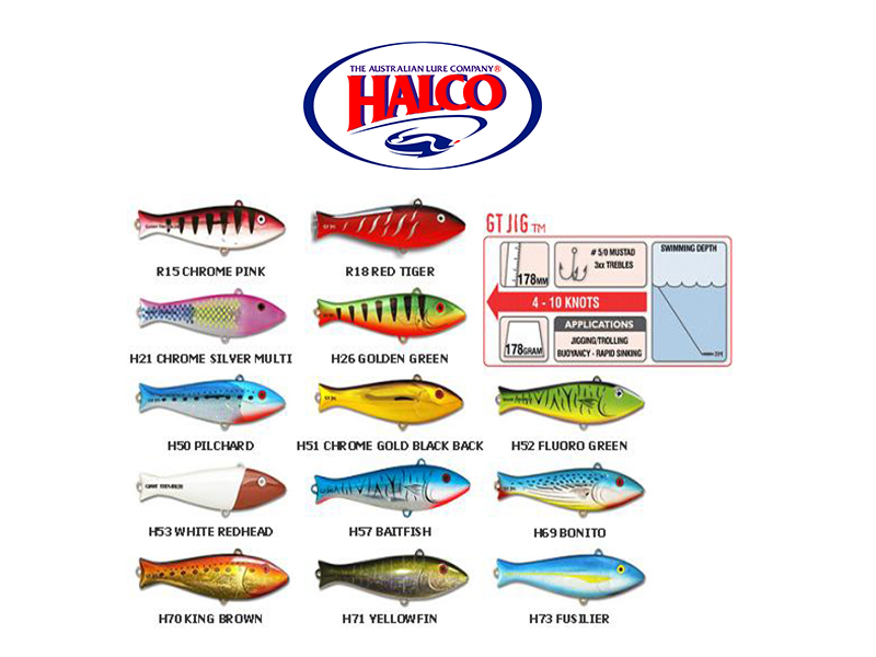 Halco Trembler GT JIG (178mm, 178gr, Color: R15)