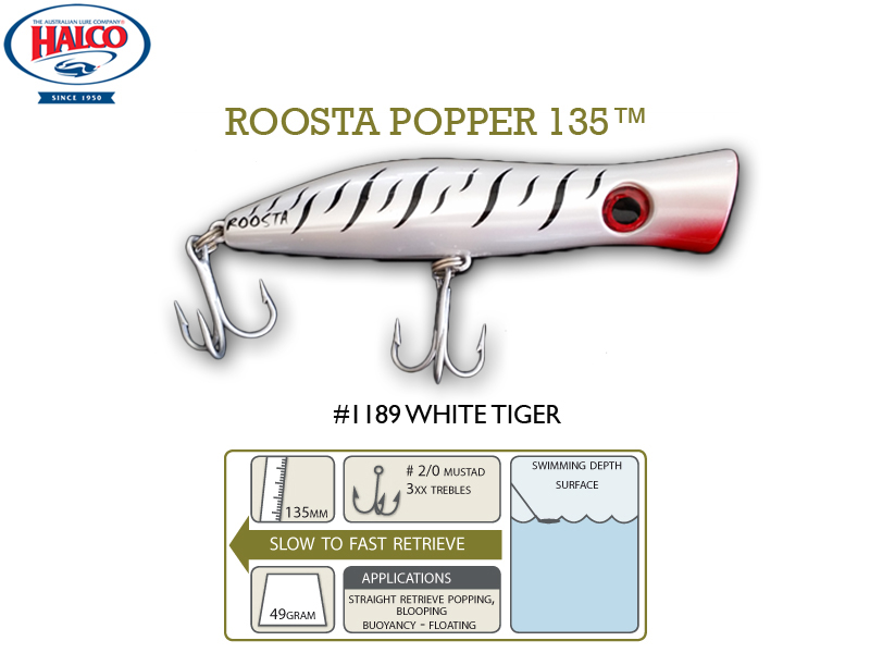 Halco Roosta Popper 135 (135mm, 47gr, Color: 1189)