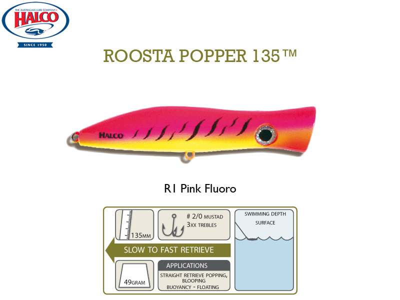 Halco Roosta Popper 135 (135mm, 47gr, Color: R1)
