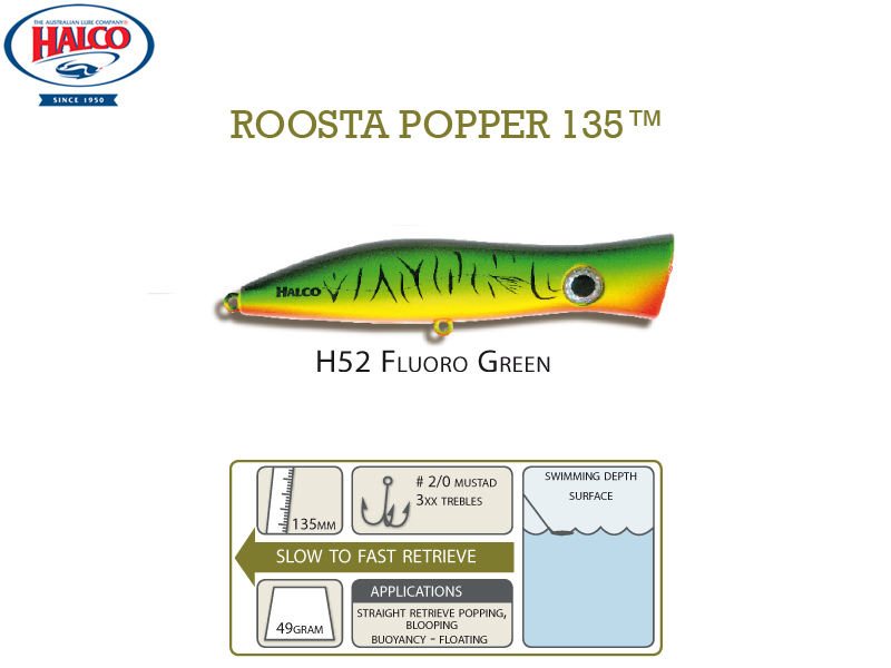Halco Roosta Popper 135 (135mm, 47gr, Color: H52)