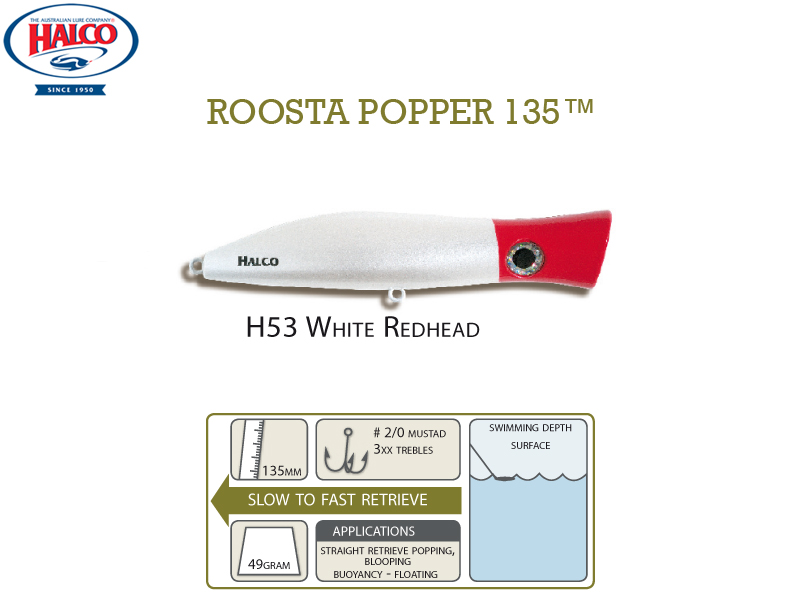 Halco Roosta Popper 135 (135mm, 47gr, Color: H53)