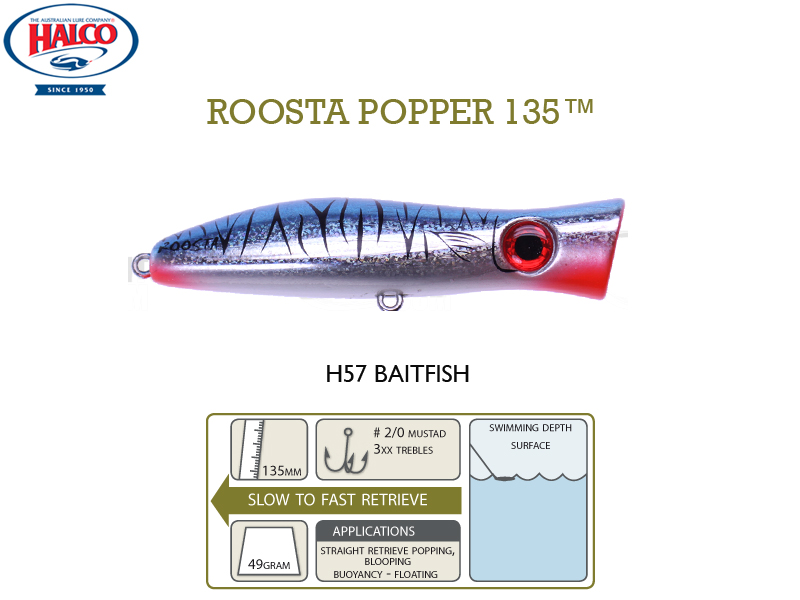 Halco Roosta Popper 135 (135mm, 47gr, Color: H57)