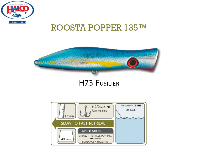 Halco Roosta Popper 135 (135mm, 47gr, Color: H73)