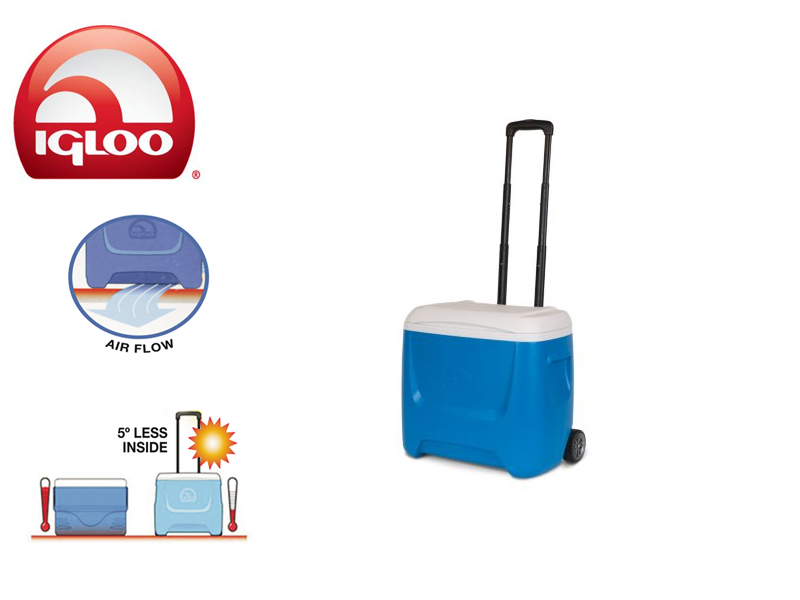 Igloo Cooler Ice Breeze 28 Roller (Blue, 26 liters)