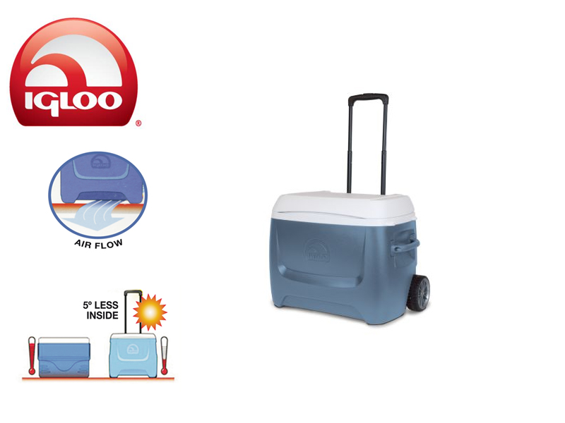 Igloo Cooler Island Breeze MaxCold 50 Roller (Blue, 47 liters)