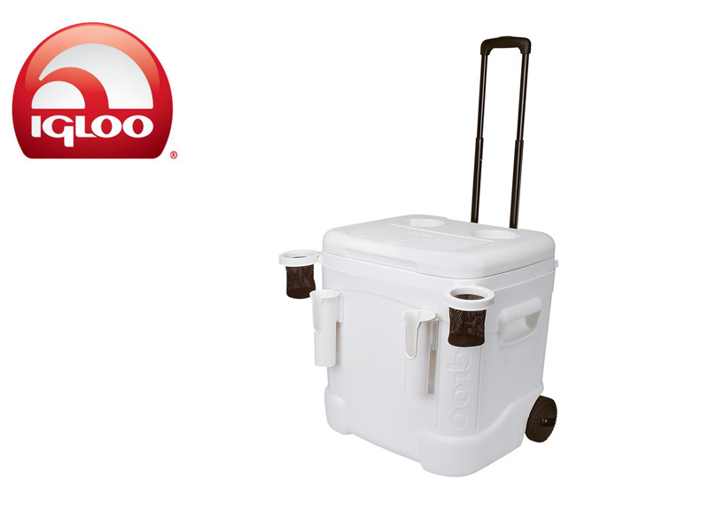 Igloo Cooler Ice Cube Marine Ultra 60 Roller (White, 57 liters)