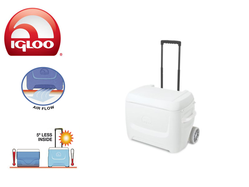 Igloo Cooler Marine Breeze 50 Roller (White, 47 liters)