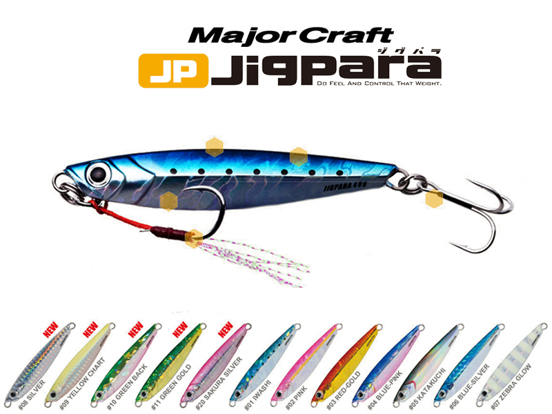 Major Craft Jigpara (Color:#01 Iwashi, Weight: 20gr)