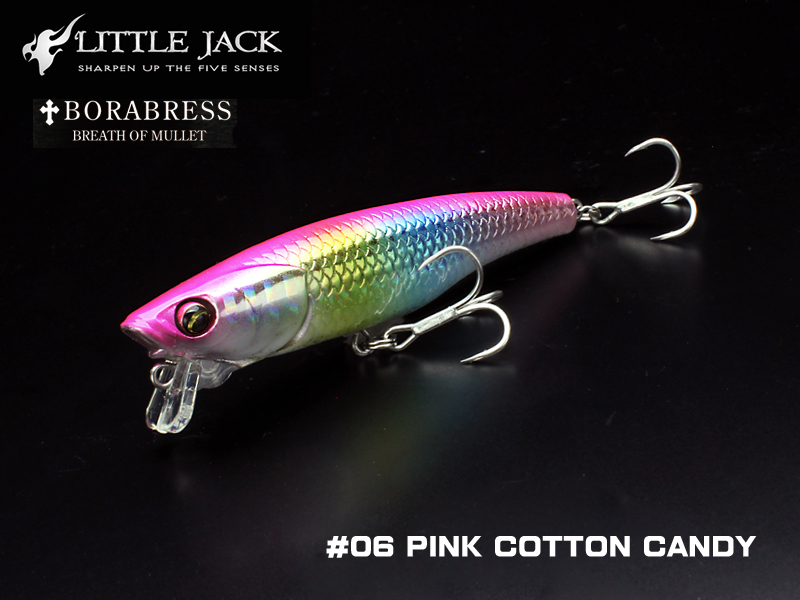 Little Jack Borabress (Length: 80mm, Weight: 8.3gr, Color: #06 Pink Cotton Candy)