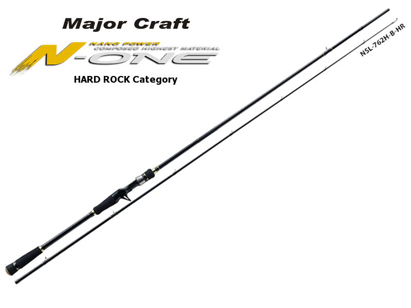 Major Craft N-One Hardrock Category NSL-762H/B (Length: 2.32mt, Lure: 10-50gr)