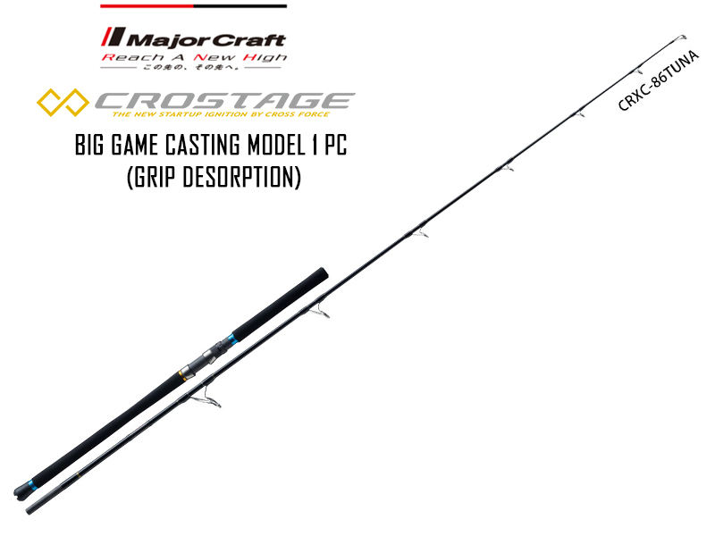 Major Craft New Crostage BIG GAME CASTING model 1 pc CRXC-86TUNA (Length: 2.62mt, Lure: MAX 120gr)