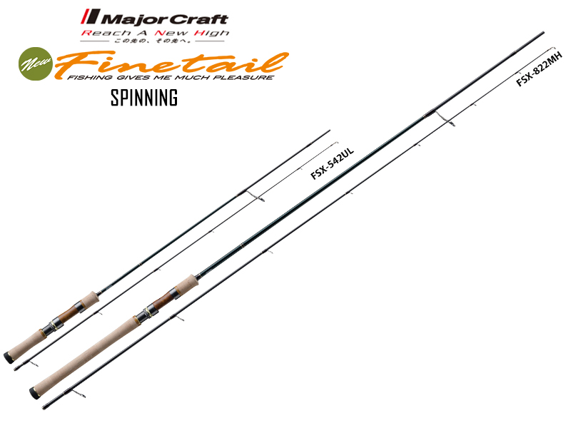Major Craft New Finetail Spinning FSX-782M (Length: 2.38mt, Lure: 4-15gr)