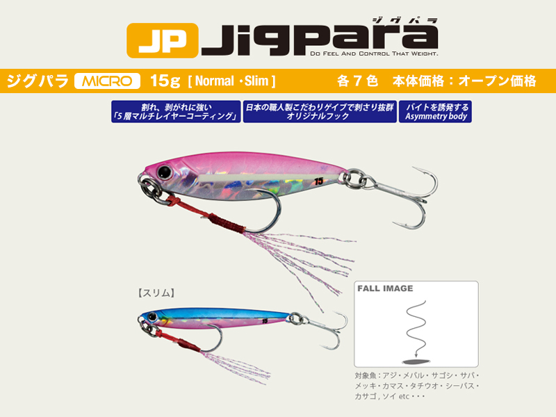 Major Craft Jigpara Mirco (Color: #15 Keimura UV Iwashi, Weight: 15gr)