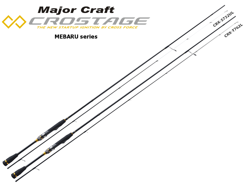Major Craft New Crostage CRX-T732L Mebaru Series (Length: 2.23mt, Lure: 0.5-7gr)