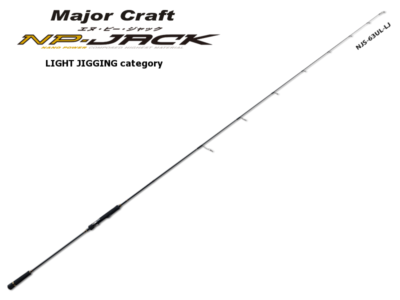 Majorcraft NP-Jack Jigging Category NJS-63L/LJ (Length:1.92mt, Lure:60-120gr)