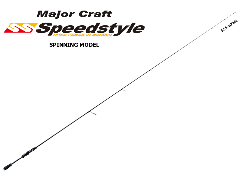 Major Craft Speedstyle Spinning Model 2pcs SSS-672ML (Length: 2.04mt, Lure: 1/8-3/8 oz)