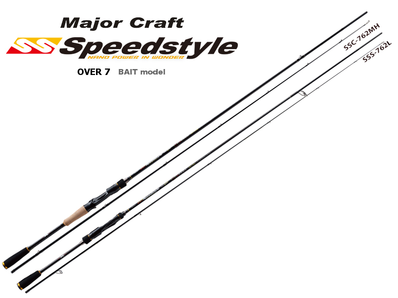 Major Craft Speedstyle Bait Casting Model 2pcs SSC-742H (Length: 2.26mt, Lure: 3/8-1 1/2oz)