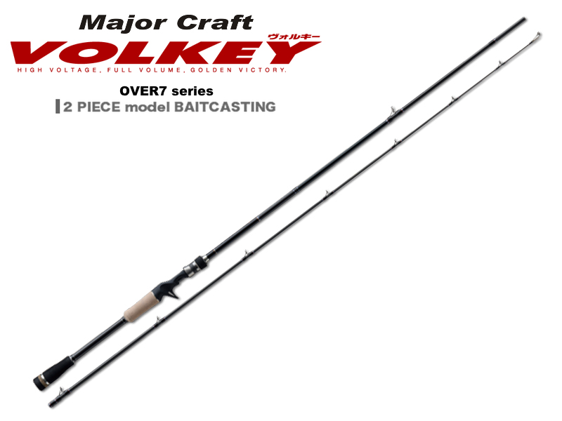 MajorCraft Volkey Over Seven VKC-762M (Length:2.32mt, Lure:1/4-3/4oz, Type: 2pcs Baitcasting)