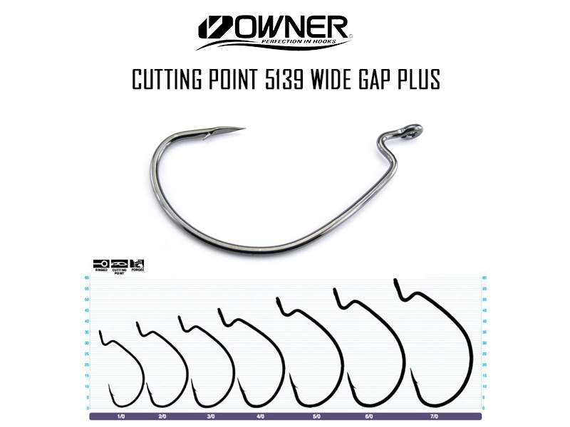 Owner Cutting Point 5139 Wide Gap Plus (Size: 1/0, Pack: 6pcs)