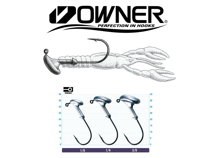 Owner 5144 Stand Up Type (#3/0, 1/4oz, 5pcs)