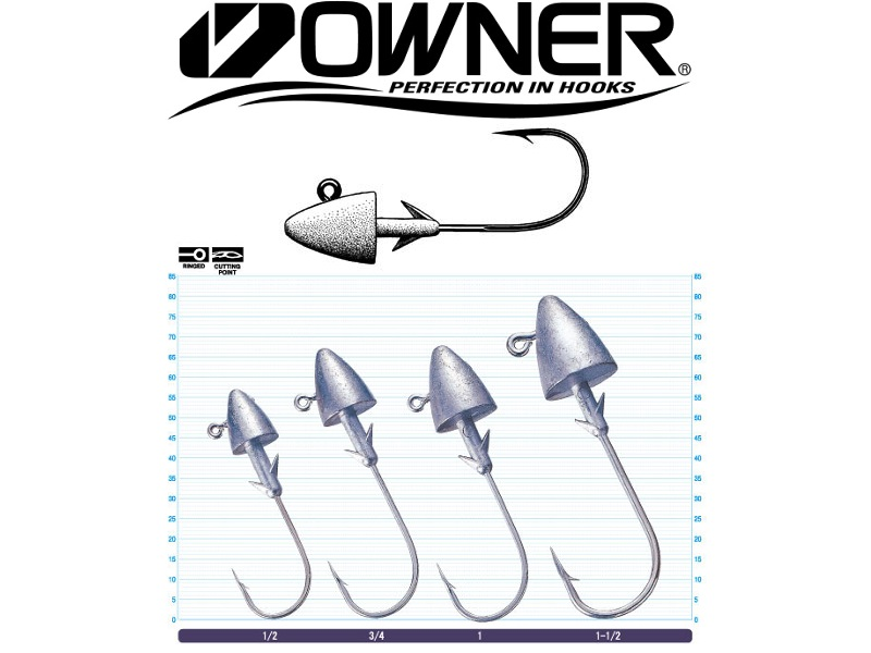 Owner 5148 Saltwater Bullet (#3/0, 1/2oz, 3pcs)