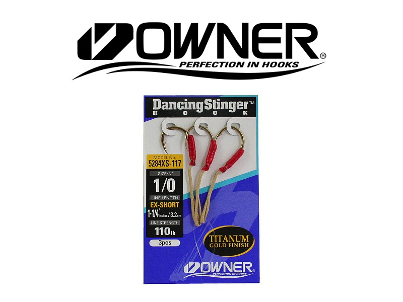 Owner 5284L Dancing Stinger Extra Short (#1/0, 3pcs)